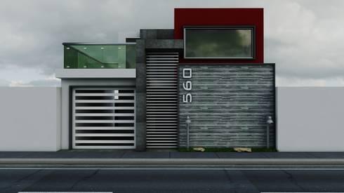 Propuesta de Fachada 2: Casas de estilo moderno por Modulor Arquitectura