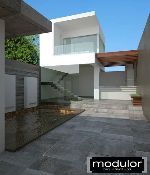 Palapa Sosa: Salones para eventos de estilo  por Modulor Arquitectura