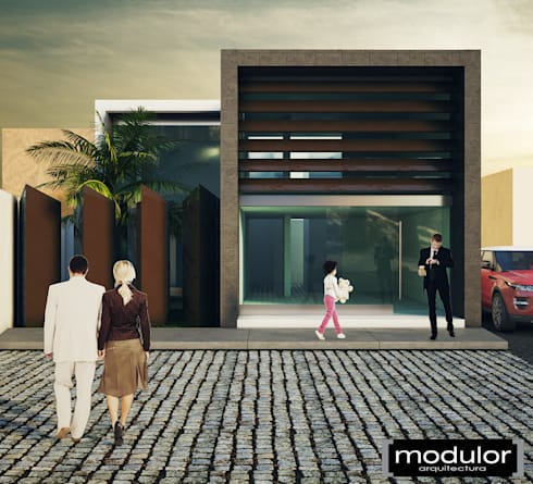 Fachada Principal: Clínicas / Consultorios Médicos de estilo  por Modulor Arquitectura