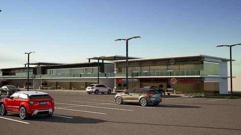 Locales Comerciales IMSS: Centros Comerciales de estilo  por Modulor Arquitectura