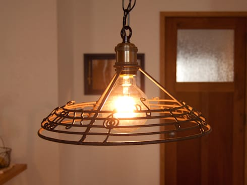 handmade iron lamp shade di horn iron lamp shade mozeypictures Choice Image