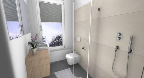 Badrenovierung dusche im g ste wc von banovo gmbh homify for Duschbad ideen