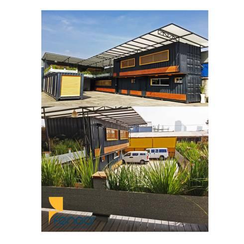 Fábrica: Oficinas y tiendas de estilo  por FENGA DISEÑO Y CONSTRUCCIÓN