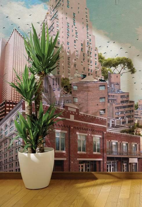 HF015-Building-over-Building: Lojas e espaços comerciais  por House Frame Wallpaper & Fabrics