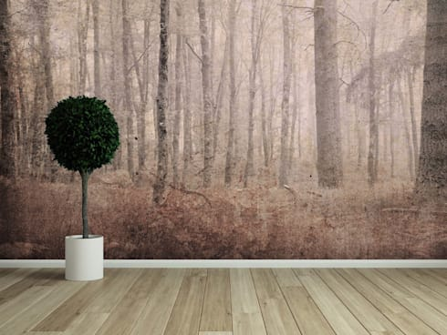 HF054-Landscape: Salas de estar clássicas por House Frame Wallpaper & Fabrics