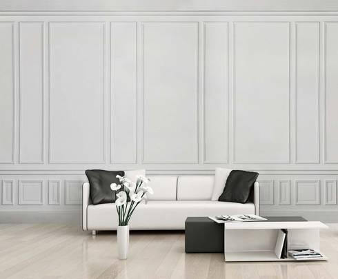 HF055-Parget: Salas de estar clássicas por House Frame Wallpaper & Fabrics