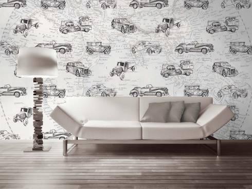 HF058-Travel Around the World: Salas de jantar clássicas por House Frame Wallpaper & Fabrics