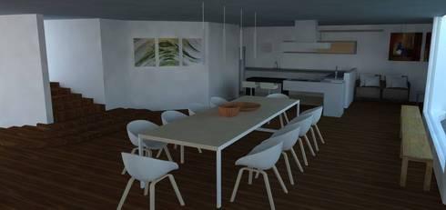 Casa Alpujarra: Comedores de estilo moderno por Trianaarquitectos