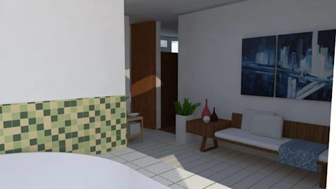 Casa Alpujarra: Baños de estilo moderno por Trianaarquitectos