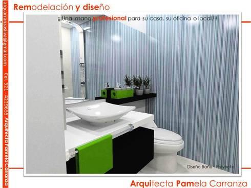 Renders-Proyectos y Espacios: Baños de estilo moderno por ARQUIPAM