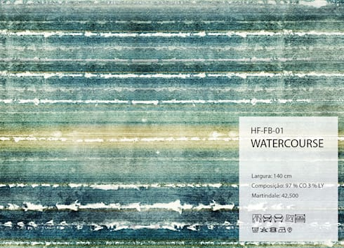 HF-FB-01-WATERCOURSE: Arte  por House Frame Wallpaper & Fabrics