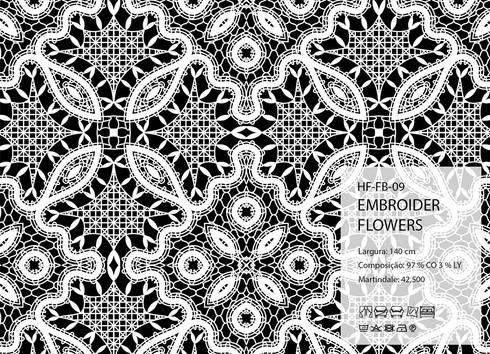 HF-FB-09-EMBROIDER-FLOWERS: Arte  por House Frame Wallpaper & Fabrics
