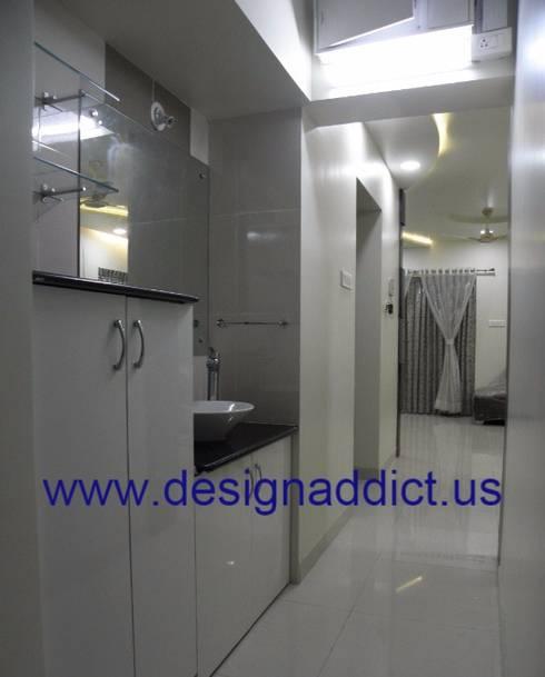 3BHK interior design in Pune:  Corridor, hallway & stairs  by Designaddict