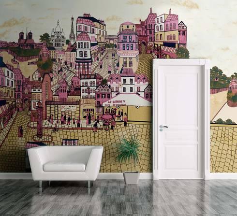HF045-Sidewalk:   por House Frame Wallpaper & Fabrics