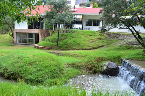 desde el rio: Jardines de estilo moderno por CESAR MONCADA S