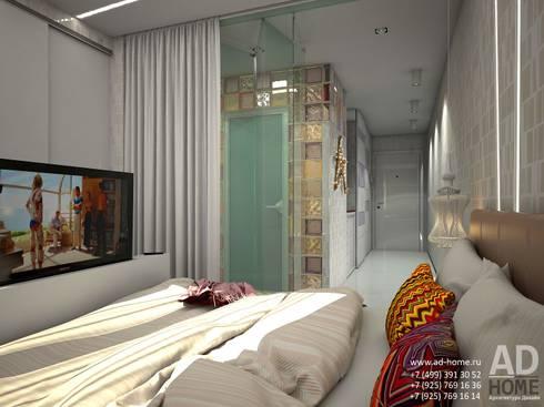 Современный дизайн интерьера,53 кв. м в ЖК Успенские горки: Спальни в . Автор – Ad-home