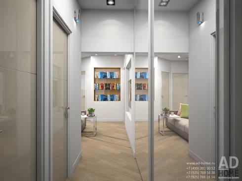 Дизайн интерьера квартиры с перепланировкой из 2-комнатной в 4-ехкомнатную, 68 кв. м, г. Москва: Коридор и прихожая в . Автор – Ad-home