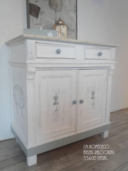meuble de rangement ou coiffeuse des ann es 30 relook e cm homedeco by cm homedeco homify. Black Bedroom Furniture Sets. Home Design Ideas