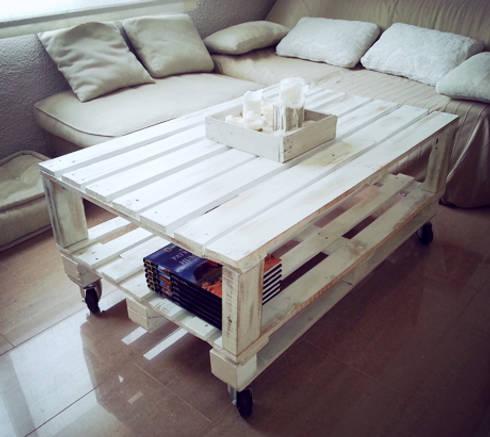 Mesas hechas con palets de mind made muebles hechos con for Mesas hechas con tarimas