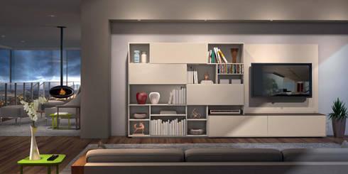 Mobiliário de Salas de estar Living rooms furniture www.intense-mobiliario.com  Cash http://intense-mobiliario.com/product.php?id_product=3646: Sala de estar  por Intense mobiliário e interiores;