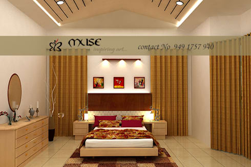 Residential pProjects: modern Bedroom by Muse Interiors
