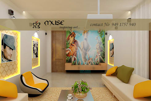 Residential pProjects: modern Media room by Muse Interiors