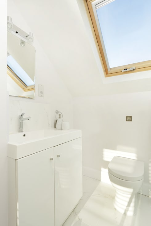 The Ridgeway: modern Bathroom by Civic Design + Build