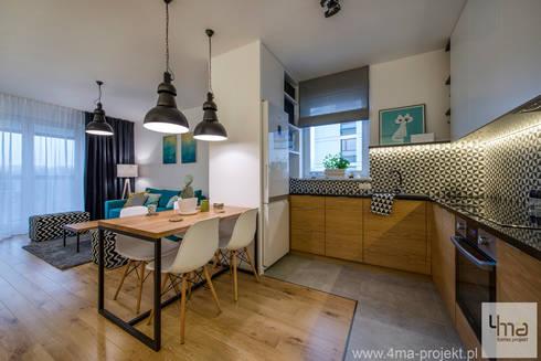 Projekt mieszkania o pow. 66 m2.: styl , w kategorii Kuchnia zaprojektowany przez 4ma projekt