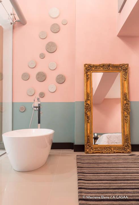 Suite Candy Colors: Spa  por Jean Felix Arquitetura