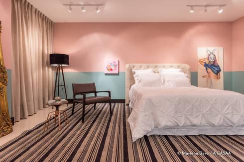 Suite Candy Colors: Quarto  por Jean Felix Arquitetura