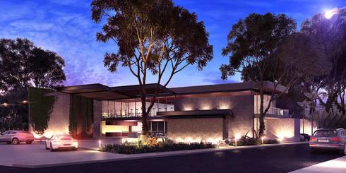 Casa Club : Casas de estilo moderno por Esquiliano Arqs