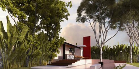 IMI CC: Albercas de estilo colonial por Esquiliano Arqs