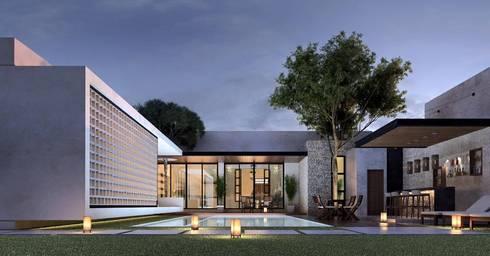 CASA 505 : Casas de estilo colonial por Esquiliano Arqs