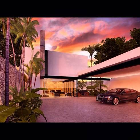 BL CC: Casas de estilo minimalista por Esquiliano Arqs