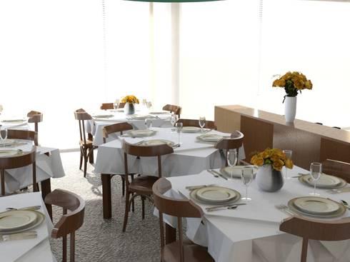 Sala de Refeições: Espaços de restauração  por Palma Interiores
