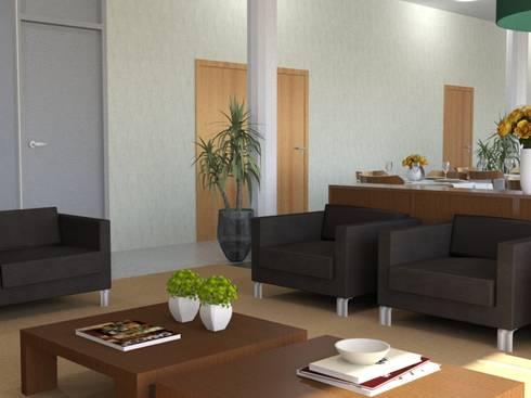 Área de estar: Espaços de restauração  por Palma Interiores