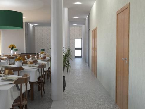 Zona de Circulação: Espaços de restauração  por Palma Interiores