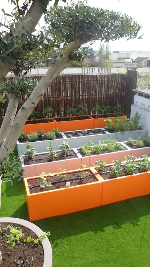 jardini res sur mesure en m tal thermolaqu par fence. Black Bedroom Furniture Sets. Home Design Ideas