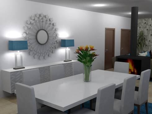 Ampliação de Habitação Unifamiliar: Salas de jantar modernas por Palma Interiores