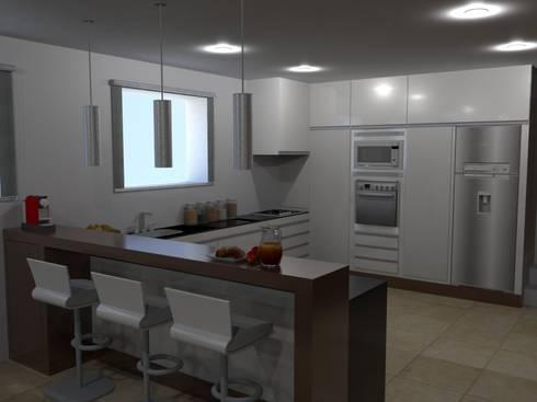 Ampliação de Habitação Unifamiliar: Cozinhas modernas por Palma Interiores