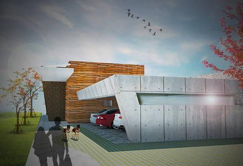 Residência unifamiliar MTCR:   por JERAU Projetos Sustentáveis
