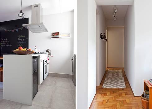 Apartamento da Cláudia e do Daniel: Cozinhas ecléticas por INÁ Arquitetura