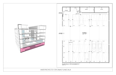 EDIFICIO OFICINAS :  de estilo  por gOO Arquitectos