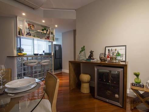Apartamento Leblon: Salas de jantar modernas por Duplex Interiores