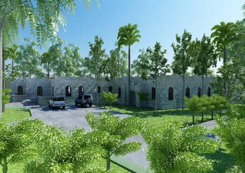 SH 62: Casas de estilo colonial por Esquiliano Arqs