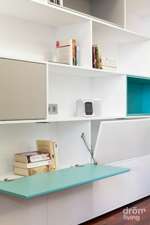 Piso modernista en Barcelona: Salones de estilo  de Dröm Living