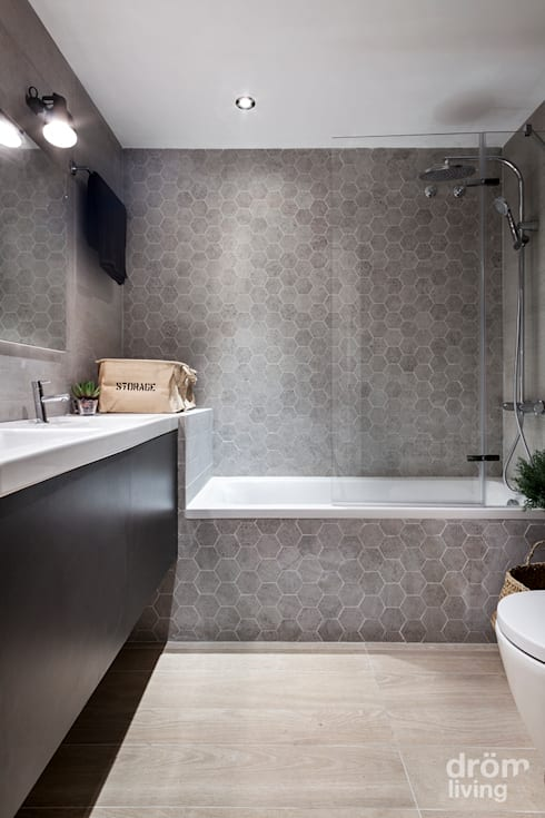 Baños de estilo minimalista por Dröm Living