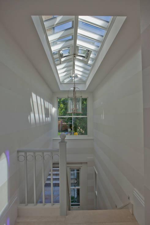 Roof Lantern above stairwell :  Corridor & hallway by Westbury Garden Rooms