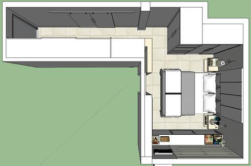 Cobertura Barra Bonita: Corredores e halls de entrada  por Duplex Interiores