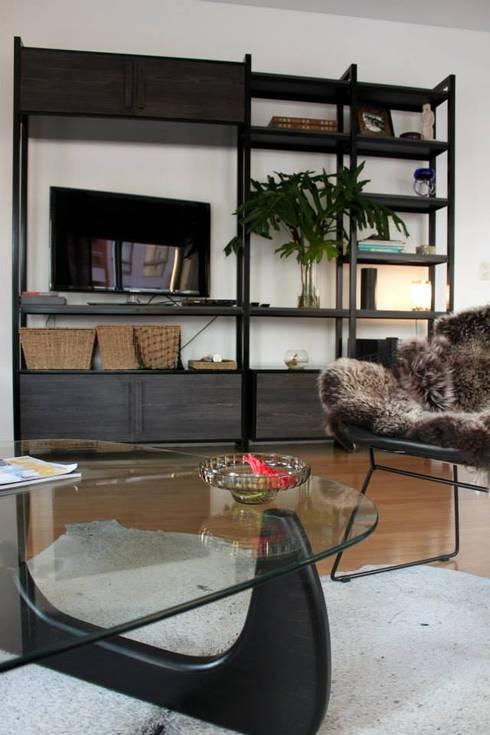 Departamento Palermo: Livings de estilo  por Trua arqruitectura